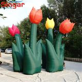 Hot 3m inflatable garden plants,inflatable tulips flower