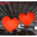 2m lighting inflatable heart for party/wedding