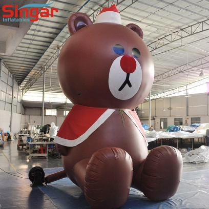 PVC inflatable teddy bear for outdoor advertising