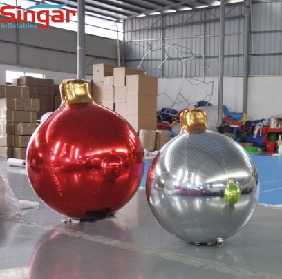 Inflatable christmas ornament balls