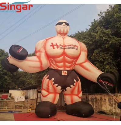 10m(33ft) inflatable giant muscle man