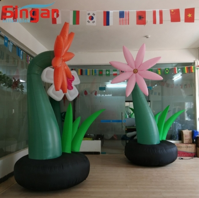 Large 3m inflatable flower balloon