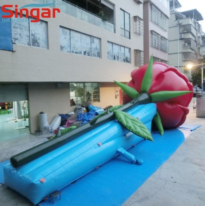 Giant 15m inflatable rose flower