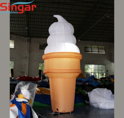 2m(6.6ft) inflatable ice cream for dessert shop promotion