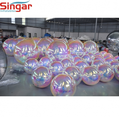 Popular inflatable reflective  mirror sphere