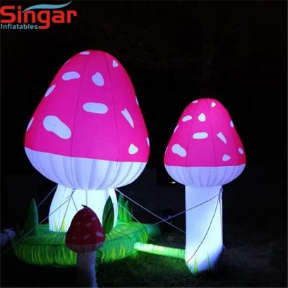 3m  led giant inflatable mushrooms