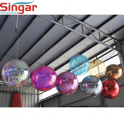 0.6m(2ft) inflatable ceilling decoration mirror ball
