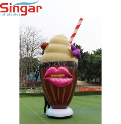 5m(16.4ft)inflatable giant milk shake