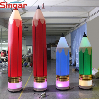 3m(9.8ft)giant inflatable pencil model with light