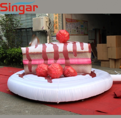 3m inflatable giant piece of cake model