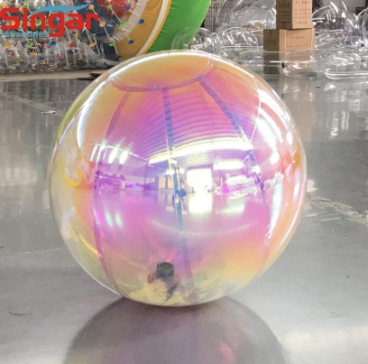 Inflatable hanging mirror ball