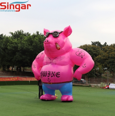 5m(16.4ft) inflatable giant pink pig model