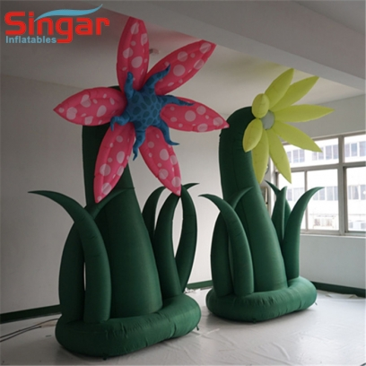 Giant inflatable plant tree with flower
