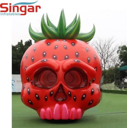 5m(16.4ft) inflatable skull strawberry