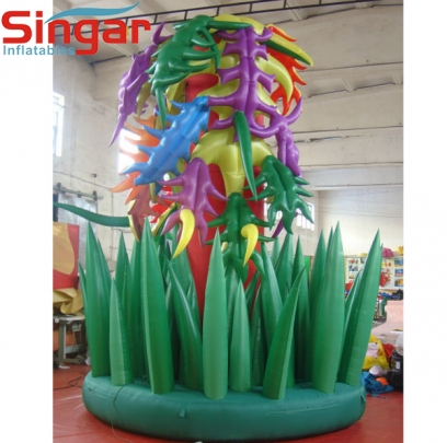 Beautiful inflatable garden flower plants