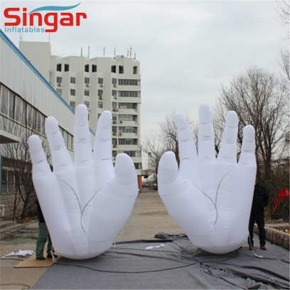 Giant 4m inflatable hands balloon for outdoor decoration/festivals