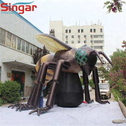 5m giant inflatable bee model for outdoor decorations