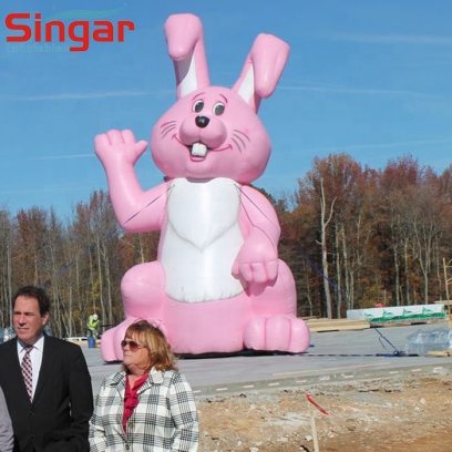 Giant 7m inflatable easter pink bunny