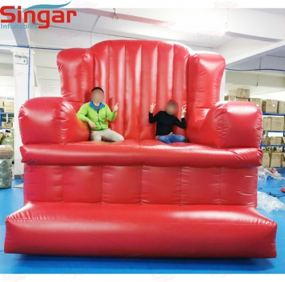3m(9.8ft) large party inflatable PVC red sofa