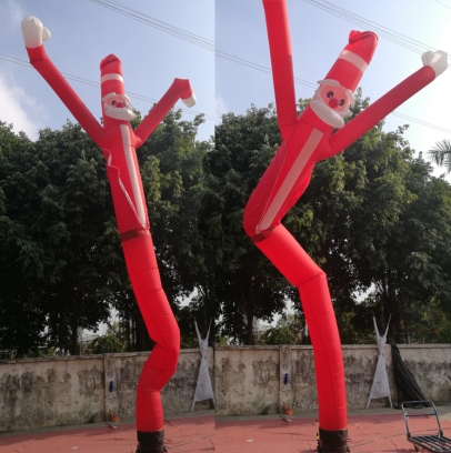 Inflatable  santa claus two legs sky dancer