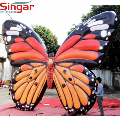 4m giant inflatable ground yard butterfly
