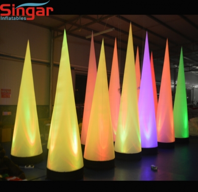 2.5m(8.2ft) inflatable lighting decoration horn pillar
