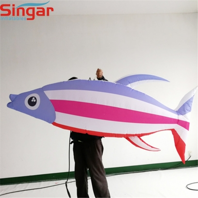 Decorative inflatable hanging tropical fishes