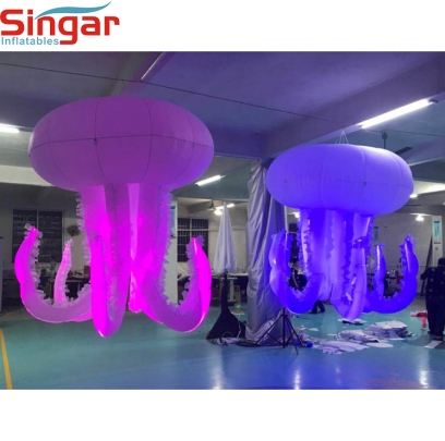 New design inflatable jellyfish for ocean theme party