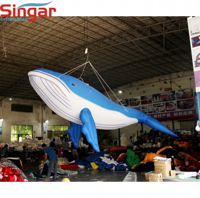 Top quality inflatable humpback blue whale