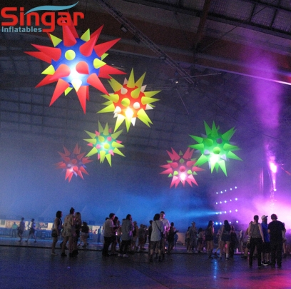 1.5m(4.9ft) inflatable hanging party star