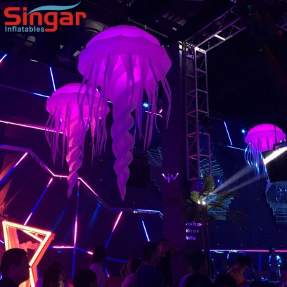 2m(8.2ft) party inflatable led jellyfish
