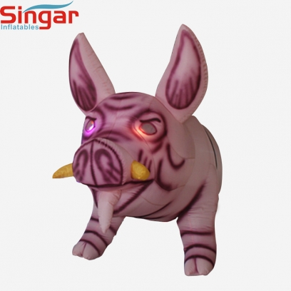 Inflatable half-length hanging wild boar pig for party decoration