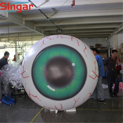 2m lighting inflatable giant eyeball for outdoor tree decoration
