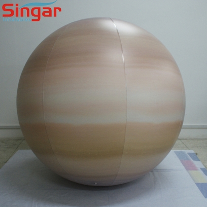 2m inflatable PVC lighting saturn balloon