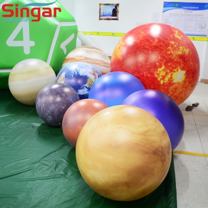 Whole set 9 inflatable planets balloons