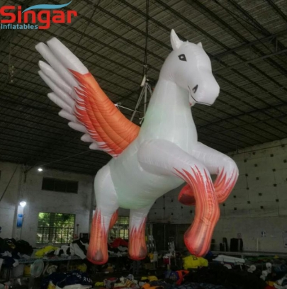 4m custom inflatable hanging fly horse for party/night club
