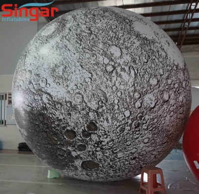Top quality PVC inflatable lighting moon balloon for party