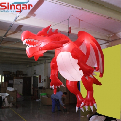 Party decorative inflatable lighting red dragon