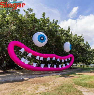 8m Outdoor festival decoration inflatable big mouth