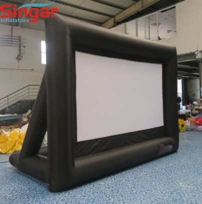 3.5m Flat Zippered Inflatable film lycra screen for yard