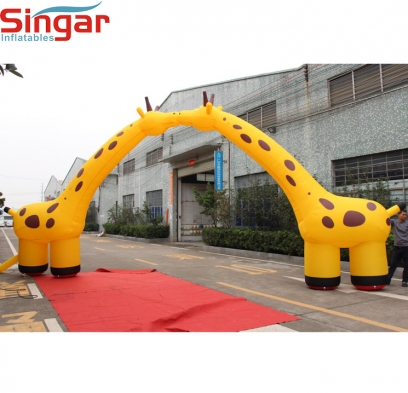 9m inflatable giraffe archway/inflatable giraffe arch/inflatable giraffe entrance for zoo gate decoration