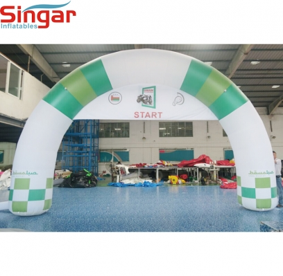 6m inflatable entrance arch with removable banner