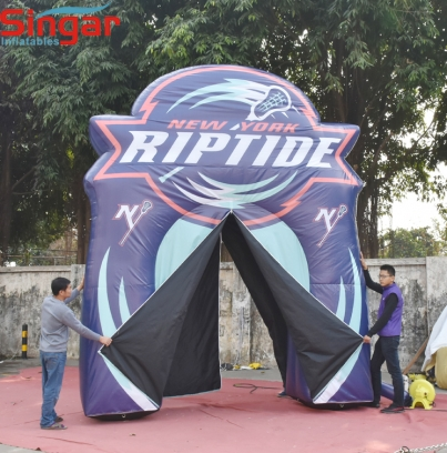 3.6m Custom inflatable double doors entrance archway for indoor events