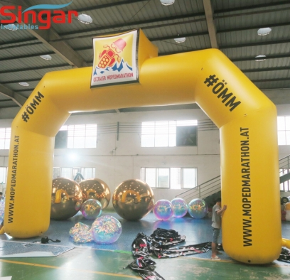 9m giant inflatable promotion arch gate with custom logo