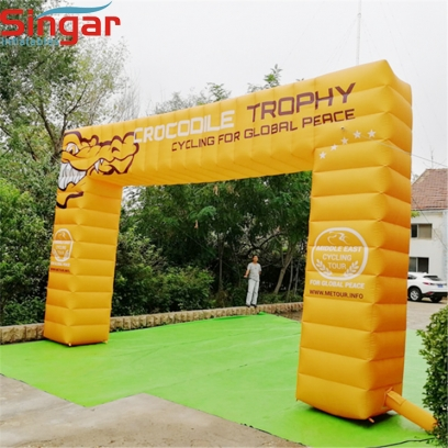 Custom printed inflatable advertising arches