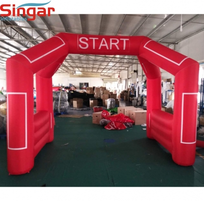 3.8m red inflatable start/finish lines race arch