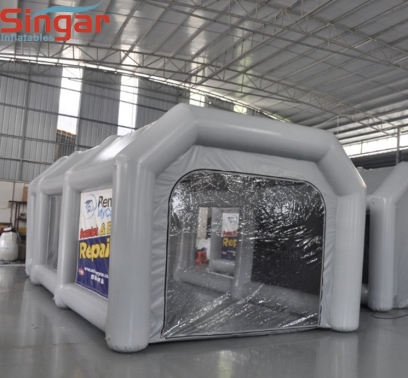 Waterproof 8m inflatable painting tent for car maintaining