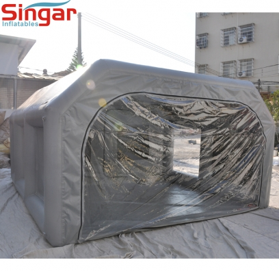 4m Mobile airtight inflatable car spray painting booth tent