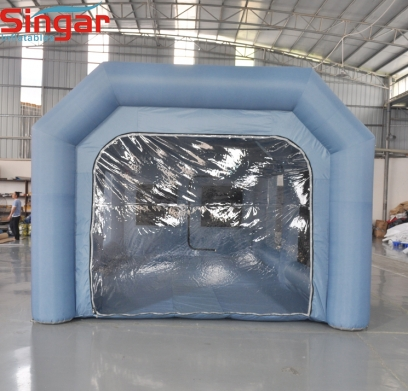 8m removable inflatable paint booth spray tent