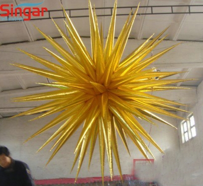 Lighting inflatable event/party decoration hanging stars
